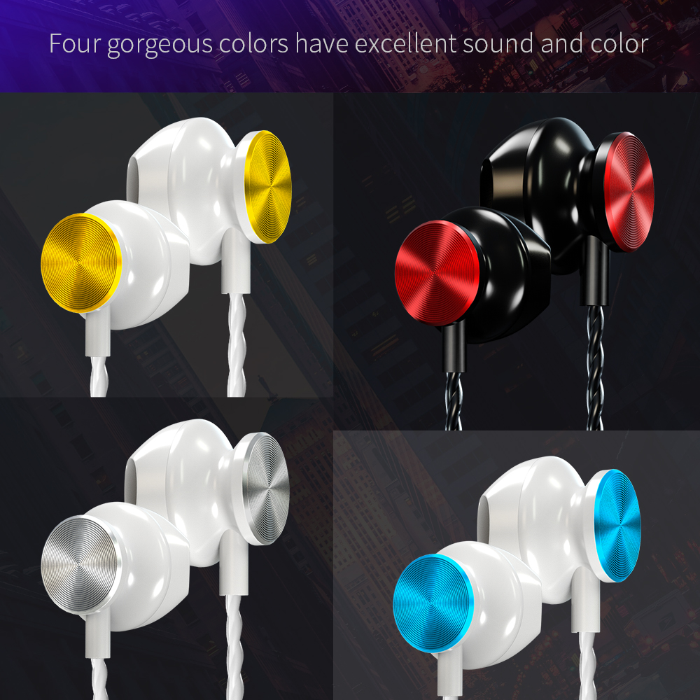 Hot Sale 3 5mm In Ear Sport Wired Earphone HiFi Stereo Sound Headset Colorful High End Music Headphones Support 3 5mm Jack Phone in Phone Earphones Headphones from Consumer Electronics