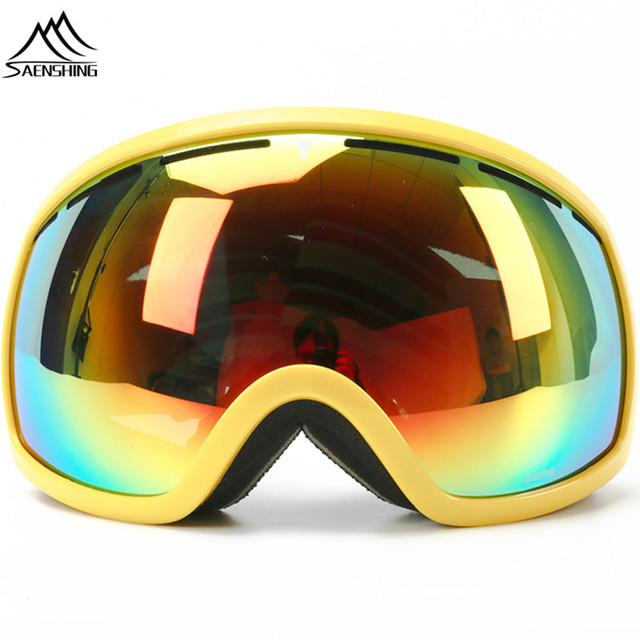 0ad277bf2831 SAENSHING Ski Goggles Men   Women Snowboard Glasses Double Lens  Snowboarding 2017 Skiing Googles Winter Snow Eyewear Anti UV