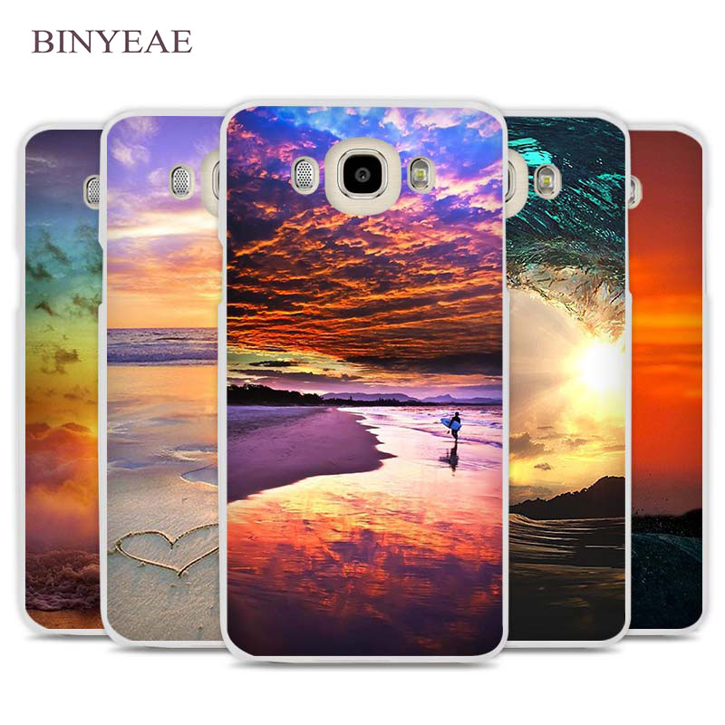 BINYEAE Surfing sunset sea Cell Phone Case Cover for Samsung Galaxy J1 J2 J3 J5 J7 C5 C7 C9 E5 E7 2016 2017 Prime
