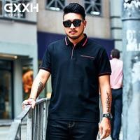 GXXH New Fashion Brands Polo Shirt Men 2019 Quality Loose Men's Polo Shirt Short Sleeve Plus size XXL 7XL Summer Mens Clothing