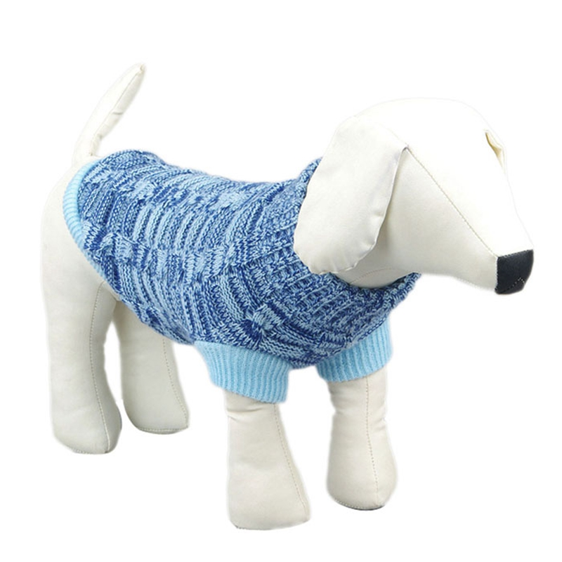 Warm Pet dog sweater Twist Design Dogs Costume Knitwear for small larde dogs Apparels Cachorro Mascotas Clothes XS~XXL & BL11