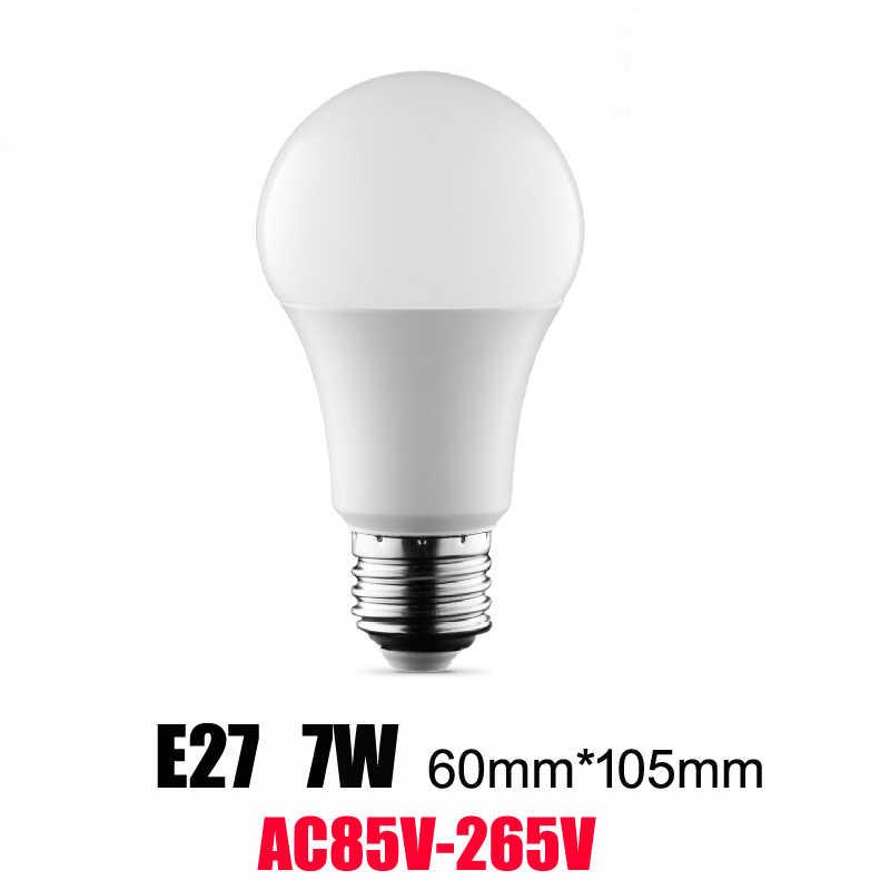 Новый светодио дный лампы 3 Вт 5 Вт 7 Вт 9 Вт E27 12 Вт 15 Вт AC85V-220V 110 В светодио дный лампочки SMD2835 быстрый отвод тепла Высокий яркий Ламповые светодиодные лампы