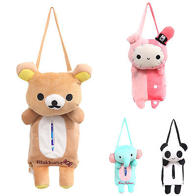 Cases Tissue-Boxes-Cover Towel-Holders Napkin-Paper Elephant Office Rabbit Bear Auto