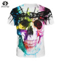 JIAYIQI New Fashion Women T-shirt Hip Hop 3D Print Skulls Animation Summer Cool Tees Tops