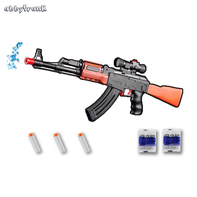 abbyfrank ak 47 toy gun absorb bullet pistol gun 3 pcs soft bullet