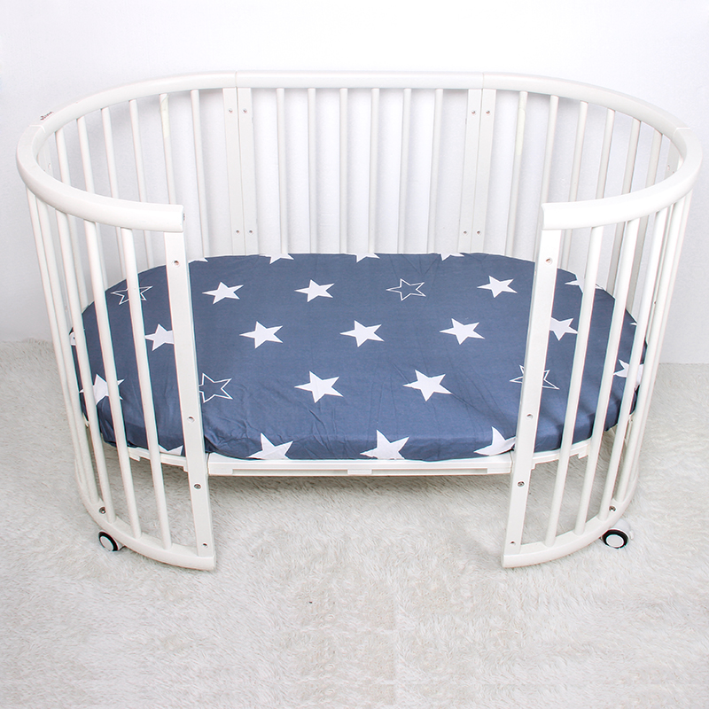 Baby Fitted Sheet 100% Cotton Home Textile Bed Sheets Covers Mattress Cover Protector Crib Sheet Baby Bedding Set