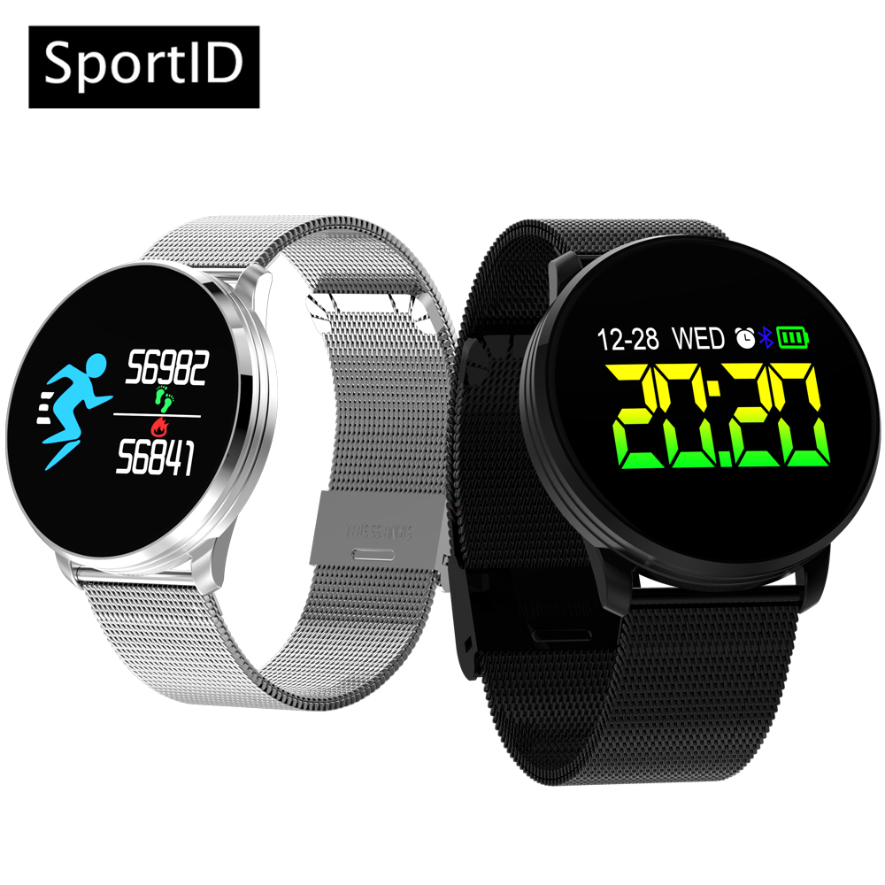 smart watch men q8 sport smartwatch women heart rate blood. Black Bedroom Furniture Sets. Home Design Ideas