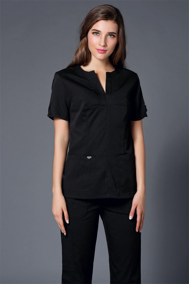 2017 Medical Clothing New Color Women Hospital Medical Scrub Clothes Uniform Dental Clinic, Beauty Salon Working Free Shipping