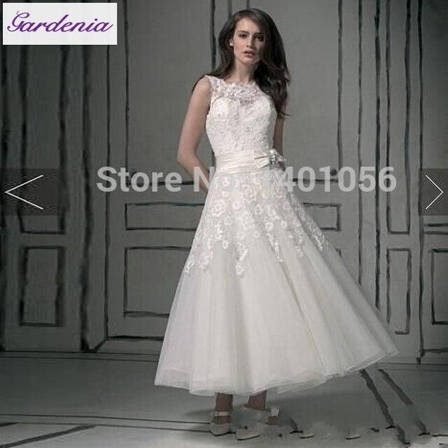 Vestido De Noiva Gorgeous Ankle Length Beach Wedding Dresses Plus Size Bohemian Gown Y
