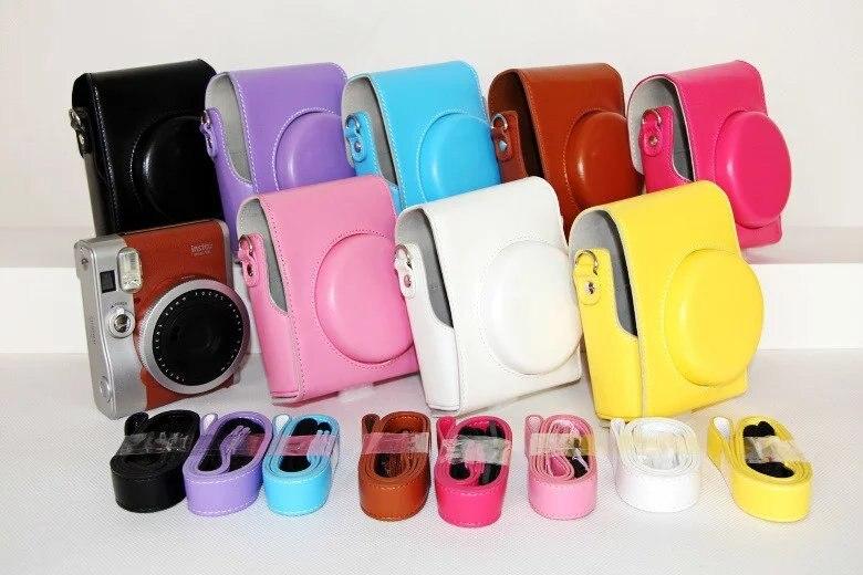 New PU Leather Camera Case Bag Holder For Fuji FUJIFILM Instax Mini 90
