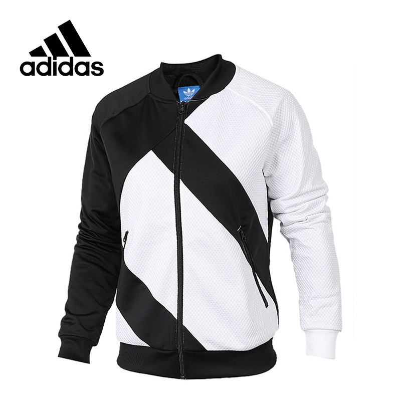 New Arrival Official Adidas Women's Jacket Originals Breathable Stand Collar Sportswear rose print voile splicing stand collar zip up jacket