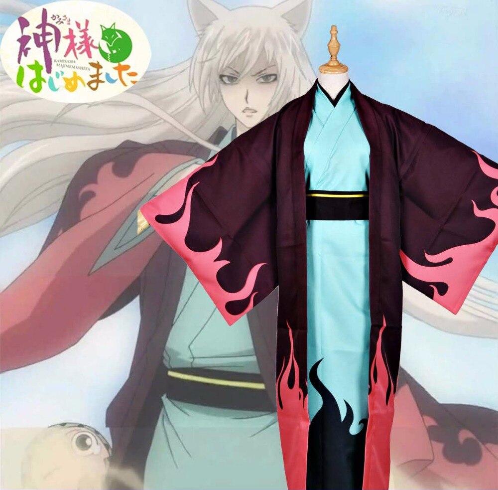 Anime Kiss Kamisama Love Tomoe Cosplay Costume Flame Version Kimono