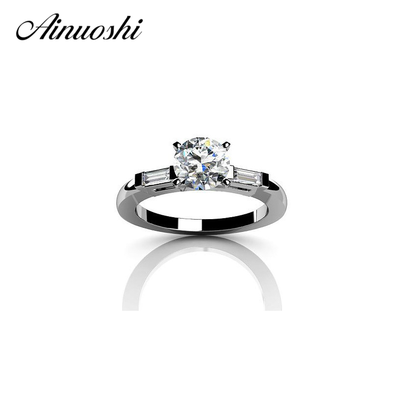 AINOUSHI 1 Carat RoGenuine 925 Solid Sterling Silver Love
