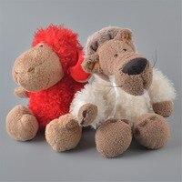 2 adet 25 cm nici kırmızı koyunları ve beyaz kurt peluş oyuncak, bebek Çocuk Bebek Hediye Ücretsiz Kargo