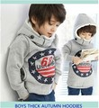 Retail children's winter fleece Korean version Autumn 68 thick cotton cashmere sweater hooded sweater boy girl's free