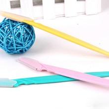 3 шт. триммер безопасные бритвы для бритья маленький размер лезвия для женщин уход за лицом инструмент для удаления волос Макияж бритва нож аксессуары