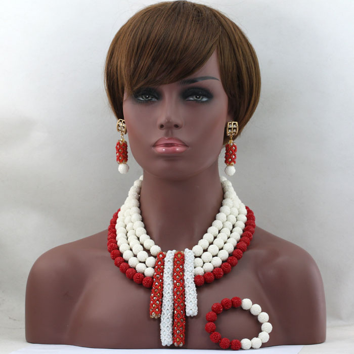 2017 New Arrival Charming Royal Red&White African Set  Amazing Costume Jewelry Set For Woman  Free Shipping hx4362017 New Arrival Charming Royal Red&White African Set  Amazing Costume Jewelry Set For Woman  Free Shipping hx436