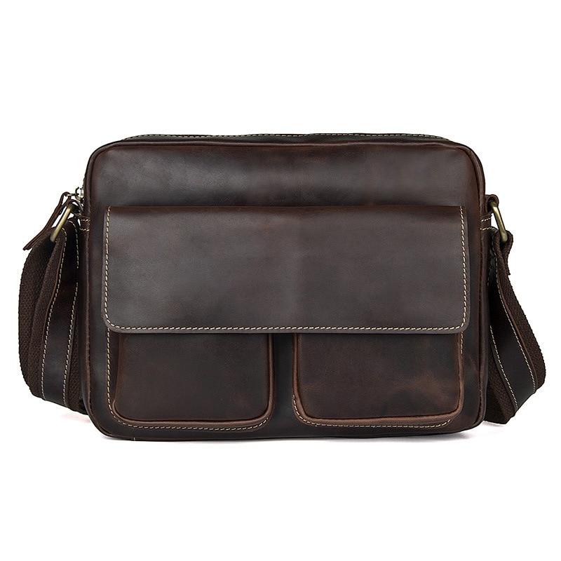BETMEN Vintage Genuine Leather Men Bag Casual One Shoulder Crossbody Men Messenger Bags family look grey star pattern matching sweatshirts