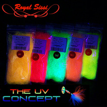 """5 optional colors UV light  5"""" long ice wing ultra long synthetic fiber with UV hue fly fishing streamer baitfish tying material"""