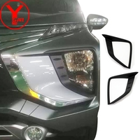 black headlight head lights covers for mitsubishi xpander ultimate 2017 2018 2019 ABS car parts accessories for xpander YCSUNZ