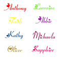 JJRUI Personalised Girls Any Name with Hearts Wall Art Sticker Decal Nursery Bedroom wall stickers for kids rooms Size S M