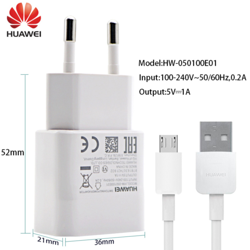 Huawei Original Charger Micro USB Cable 1M 1A Honor 4a 4c 4x 5a 5c 5x 6a 6c 6x 6s P6 P7 P8 Lite G7 G8 G9 Plus Pro Charging Cable