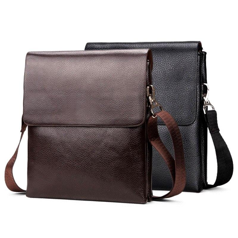 Briefcase Shoulder-Crossbody-Bag Messenger Mobile-Phone Zipper Men Business for 668