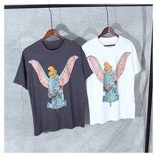 New 2019 summer Men/womens cotton T shirts Chic womens cartoon pattern Tops Tee A341