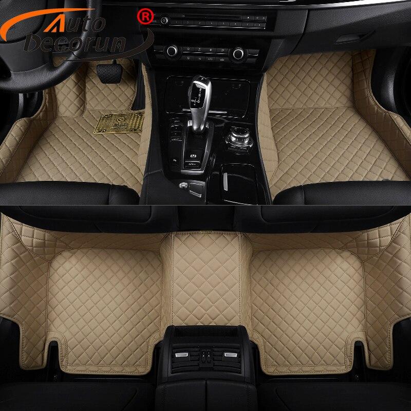 AutoDecorun Custom Fit Car Floor Mats For Cadillac SRX CTS ATS ESCALADE Car Mat PVC Leather Interior Accessories Auto Carpet Set