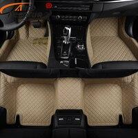 Custom Fit Car Floor Mats For Cadillac SRX CTS ATS ESCALADE Car Mat PVC Leather Interior
