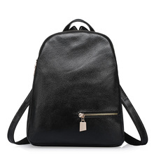 2017 Causal Anti-theft Backpack Women Genuine Leather Small Rucksack for Girls Real Cowhide Leather Knapsack Mochila Feminina