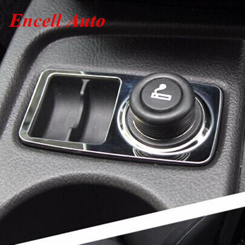 Car Sticker Cigarette Lighter Decoration Sticker Stainless Steel Refires Paillette For Ford Focus 3 MK3 Stainless Steel