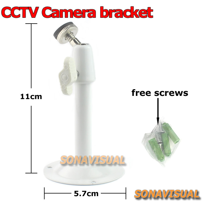 white metallic cctv camera gimbal bracket adjustable universal surveillance camera stand wall mount cctv accessory best