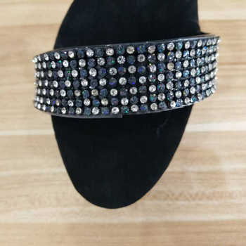 Women Summer Slippers Sexy Mules Crystal Band 15cm High Heels Black Slides Fashion Platfrom Shoes Women Footwear Plus Size 43