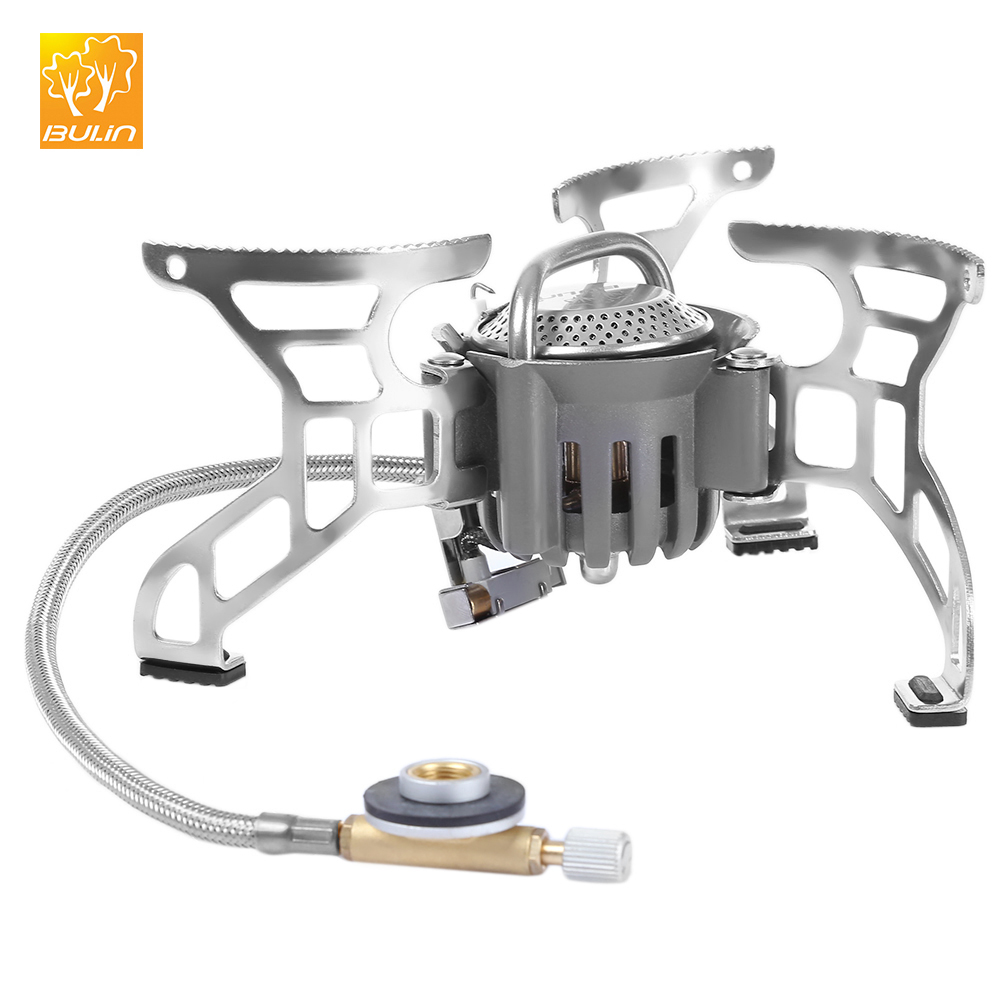 Outdoor Camping Picnic Foldable Split Gas Stove Portable BBQ Grills Gear