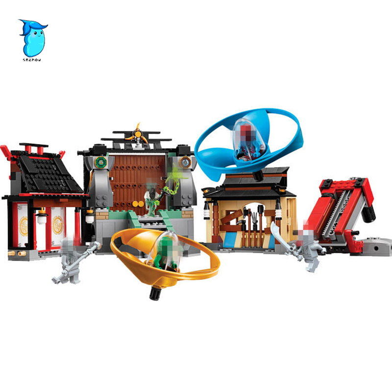 Stzhou Compatible Lepin Ninjagoes 06033 blocks Ninjago Figure Airjitzu Battle Grounds toys for children building blocks