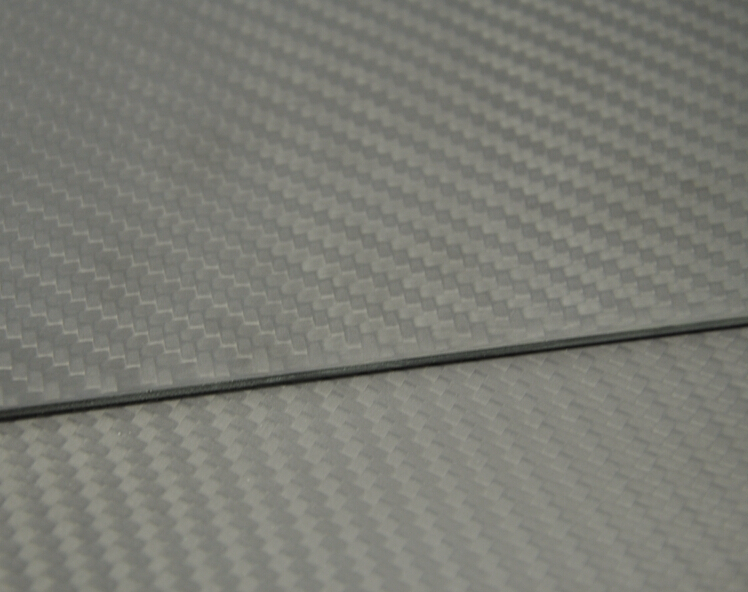 300mmX500mmX2mm 100% 3K Carbon Fiber Plate Panel Sheet Matte Surface 2mm Thick 1sheet matte surface 3k 100% carbon fiber plate sheet 2mm thickness
