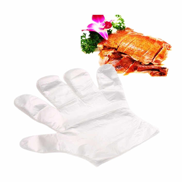 100pcs/Set Safety PE Material Disposable Food Gloves for X-max Chicken BBQ Garden Plant Miniascape Flower Anti-Dirty Hands Glove