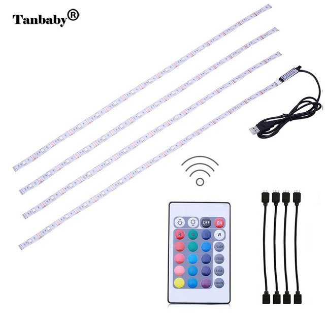 Tanbaby 4 x 50cm usb rgb led light strip kit tv backlight flexible tanbaby 4 x 50cm usb rgb led light strip kit tv backlight flexible waterproof rope with aloadofball Images