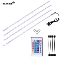Tanbaby 4 X 50cm USB RGB LED Light Strip Kit TV Backlight Flexible Waterproof Rope With