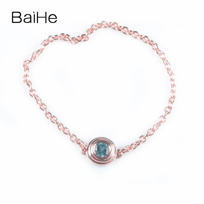 BAIHE Solid 18k Rose Gold(AU750) 100% Natural Natural Sky Blue Topaz Cute Engagement Gift Fashion Ring Chain Trendy Fine JewelryBAIHE Solid 18k Rose Gold(AU750) 100% Natural Natural Sky Blue Topaz Cute Engagement Gift Fashion Ring Chain Trendy Fine Jewelry