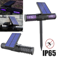 Solar UV Energy Mosquito Killer Zapper Led Light Outdoor Solar/USB Charging Waterproof Insect Lamp Trap Repellent Pest Control