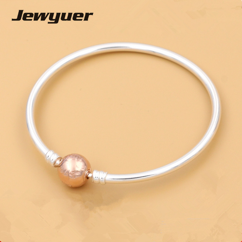 925 Sterling silver bracelets for women with rose clasp fit silver charms bracelet bangle DIY Memnon Memnon  jewelry YSZ042925 Sterling silver bracelets for women with rose clasp fit silver charms bracelet bangle DIY Memnon Memnon  jewelry YSZ042