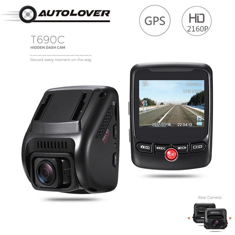 T690C Hidden font b Car b font DVR Camera 170 degree Dash Cam 2160P UHD Novatek