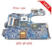 NOKOTION laptop Motherboard For samsung R70 NP R70 BA92 04804A Main board DDR2 free cpu full tested