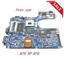 NOKOTION laptop anakart için samsung R70 NP R70 BA92 04804A ana kurulu DDR2 ücretsiz cpu tam test