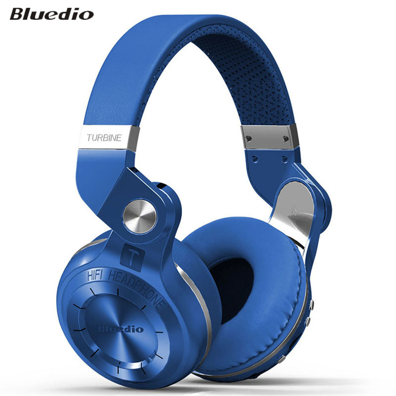 ФОТО Bluedio T2+ Wireless Bluetooth 4.1 Stereo Headphone Headset Earphone Foldable Stretchable Support TF Card FM for Phone Tablet PC