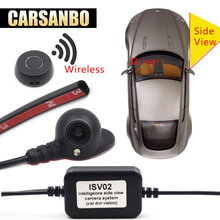 hot deal buy carsanbo vehicle right blind spot system camera car rear view camera parking system mini two video automatic switch control box