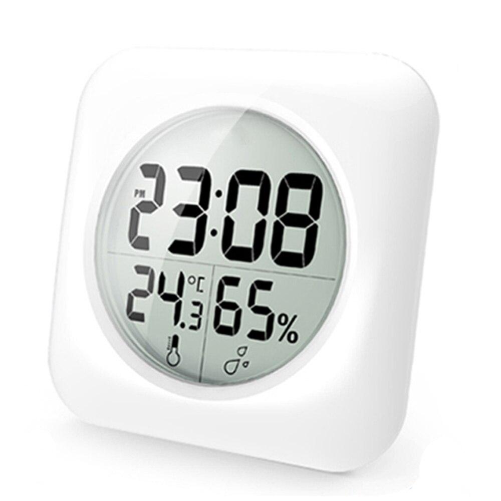 baldr tanche lcd numrique horloge temps temprature humidit affichage montre salle de bains cuisine miroir mural - Horloge Digitale Murale Salle De Bain