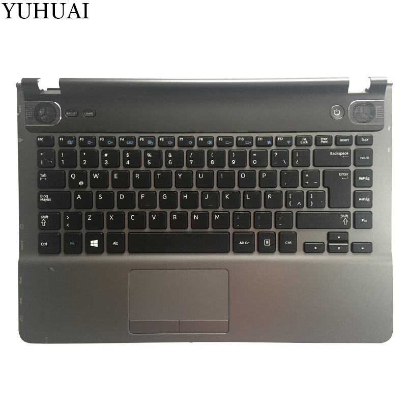 NEW Latin keyboard for Samsung NP500P4A NP500P4C Q468 LA keyboard  palmrest cover No backlight-in Replacement Keyboards from Computer & Office    1